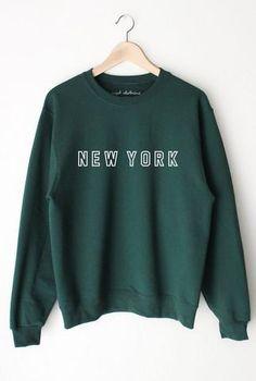 NYCT Clothing New York Oversized Sweater - Dark Green