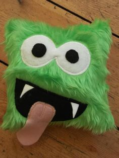 Green Furry Monster Cushion £10.00