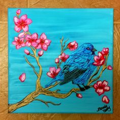 Bluebird painting - SOLD   Interested?  I can do another like this for you.  Just contact me at mandyterry@gmail.com