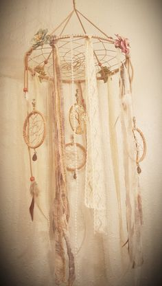 Tree Of Life Dream Catcher Mobile/Mother Of Pearl Tree Of Life/Vintage