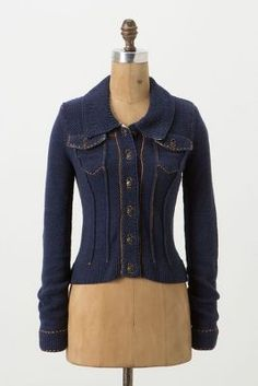 Anchored Denim Cardigan by Angel of the North