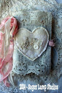 {Love Valentine Fabric Journal}