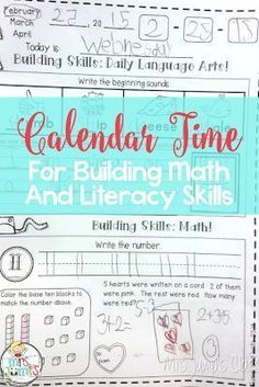 Mrs Jump's class: Calendar Time: Building Math and Literacy Skills! Kindergarten Calendar, Calendar Activities, Kindergarten Math, Writing Activities, Teaching Jobs, Teaching Resources, Teaching Ideas, Preschool Ideas, Math Stations