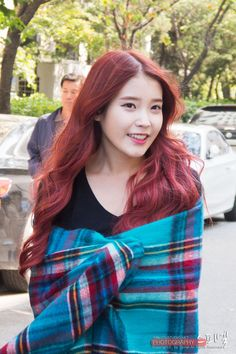 Hair Dye Colors, Brown Hair Colors, Asian Red Hair, Iu Hair, Korean Airport Fashion, Korean Hair Color, Asian Photography, Singer Fashion, Beautiful Red Hair