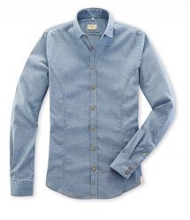 Hemd MAIK in Oxford-Stretch in Denim Blue in Komfort Stretch Blue Denim, Oxford, Shirt Dress, Mens Tops, Shirts, Shopping, Dresses, Fashion, Fall Winter