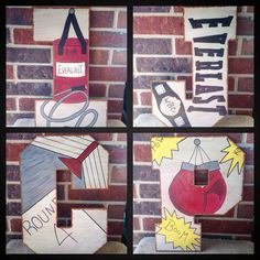 Boxing Letter-Hand Painted Wood Letter-Nursery Letters-Boxing Party Decor-Boxing www.crownedlily.com