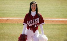 Arkansas Razorbacks cheerleader