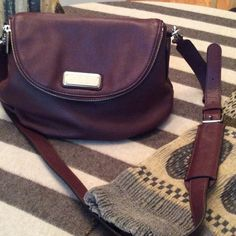 Marc Jacobs Q Mini Natasha cross-body bag in wine Marc by Marc Jacobs Q Mini Natasha Cross Body Bag.  In sold out 'wine' shade!  Worn once, bag is in near-perfect condition. Marc by Marc Jacobs Bags Crossbody Bags