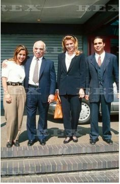 KING HUSSEIN OF JORDAN WITH HIS FAMILY, LONDON BRITAIN - MAY 1995 (l)-® PRINCESS HAYA, KING HUSSEIN, QUEEN NOOR AND PRINCE ALI