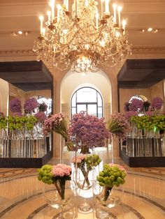 Hotel George V, Paris. The flowers are always beautiful!