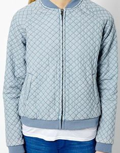 Image 3 ofEsprit Quilted Bomber