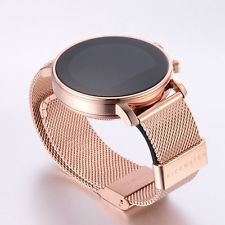 Quad Band Round Stainless Steel Water Resistant Smart Watch FOR Apple Android Stylish Watches, Luxury Watches, Cool Watches, Watches For Men, Unusual Watches, Elegant Watches, Fitness Tracker Bracelet, Rose Gold Apple Watch, Fitness Watches For Women