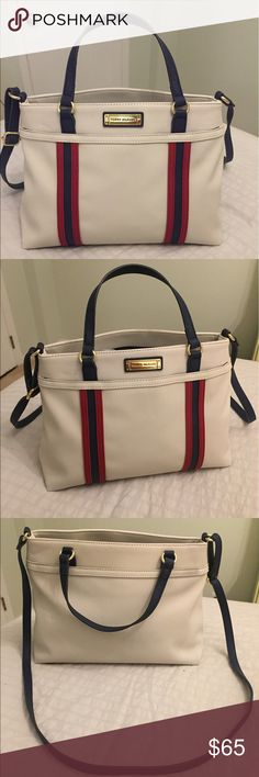 Tommy Hilfiger Crossbody Tote Tommy Crossbody Tote medium size, 2 separate spaces and zipper in the middle, seamless extra pocket in the back... literally new it was a present love it but didn't found the occasion to use it! Tommy Hilfiger Bags Totes
