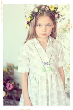 The Seattle Girls Shirtdress Fleur + Dot SS14 #kids #fashion #spring #fleuranddot