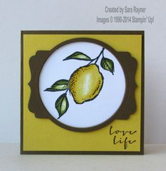 A happy thing card, using supplies from Stampin' Up! www.craftingandstamping.com #stampinup