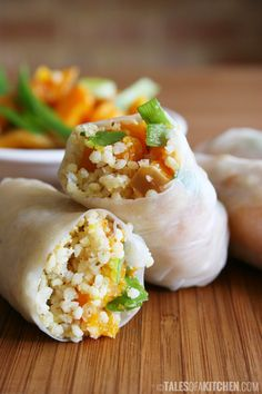 Roasted butternut squash and millet rolls.
