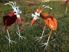 Shovel birds welded from shovels and rebar. #shovel bird