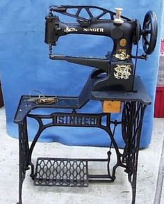 This is MY machine!!! ❤️ the best birthday present ever!!! Singer 29-4 Leatherworkers Treadle Sewing Machine -- they are still around and many still working