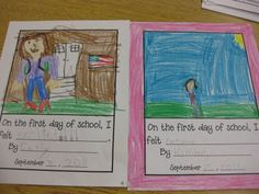Erica Bohrer's First Grade: On the First Day of School, I felt...