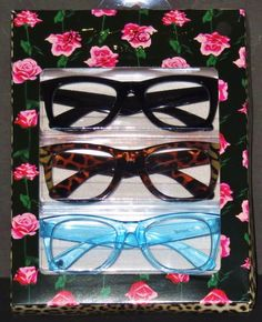 9b63a8d0ee6 Authentic betsey johnson readers 3 pair 2.50 reading glasses oversized  wayfarer