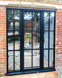 Aluminium Windows And Doors, Steel Windows, Single French Door, French Doors, Industrial Patio Doors, Crittall Windows, Aluminium Joinery, External Doors, Uk Homes
