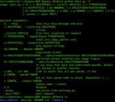 WAF_Bypass_Helper is a Python script for generating bypass A web application firewall (or WAF).