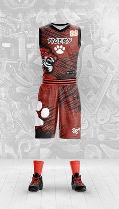 0e256b19270 Tigers custom basketball uniform design.  custombasketballuniform   basketball  basketballuniform