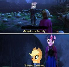 I love frozen and mlp, this is just too good!!!!