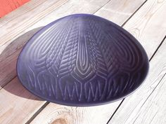 "Berit Ternell, Upsala Ekeby Gefle, triangle shaped bowl called ""Ax"". Swedish modernist design"