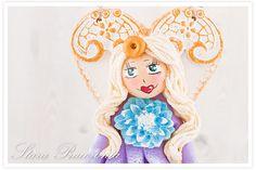 Aniołek z masy solnej, aniołki z masy solnej, masa solna, salt dough angels, anioł anioły z masy solnej www.starapracownia.blogspot.com www.masa-solna.pl