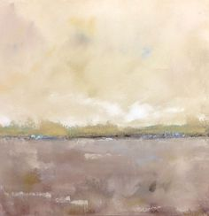 Neutral Abstract Landscape Painting Original Art - Coastal Neutrals 20 x 20