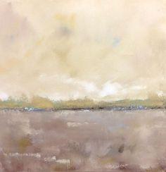Neutral Abstract Landscape Painting Original Art - Coastal Neutrals 20 x 20