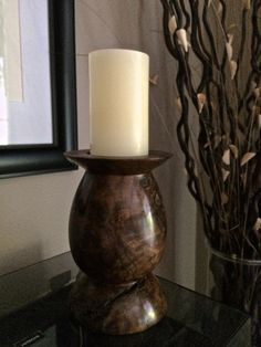 Reserved For 123kush99: Pillar Candle Holder | One-of-a-kind Home Decor…