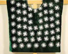 Blusa Frida: huipil mexicano de Oaxaca, traje tradicional mexicano, indumentaria típica indígena, hecho por artesanas tehuanas, estrellas