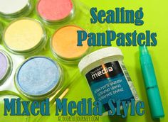 Learn how to seal your PanPastels with products from DecoArts. Stencils by StencilGirl.