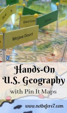 Learn how to use Pin It Maps for studying US History and Geography. Add some hands-on fun to your home, classroom, or homeschool. Geography For Kids, Geography Activities, Geography Lessons, Teaching Geography, World Geography, Teaching History, History Education, Geography Classroom, Dinosaur Activities