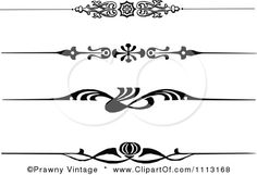 Clipart Vintage Black And White Decorative Art Deco Borders - Royalty Free Vector Illustration by Prawny Vintage: