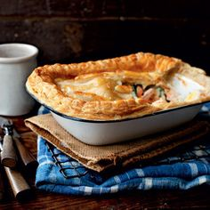 Fish pie with a pastry crust recipe. For the full recipe, click the picture or visit RedOnline.co.uk