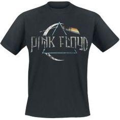 Pink Floyd Logo Herren-T-Shirt - schwarz - Offizielles Merchandise T Shirt Pink, Tee T Shirt, Shirt Outfit, Pink Floyd Dark Side, Logo Pink Floyd, Hand Logo, Black Sabbath, Band Shirts, T Shirts