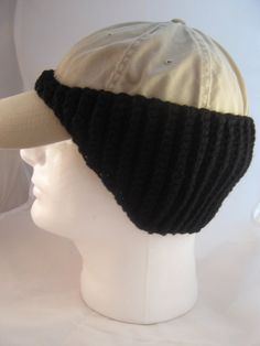 Pattern for Crocheted Baseball cap Earwarmer by APPALACHIANSTITCH