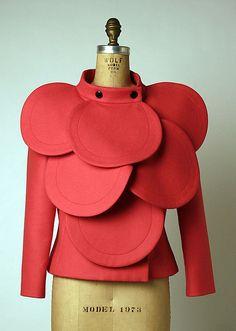 Jacket Pierre Cardin (French, born San Biagio di Callalta, Italy, 1922) Date: ca. 1992 Culture: French Medium: wool, metal