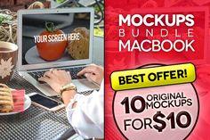 10 Mockups MacBook (pics PSD) Graphics **10 MOCKUPS MACBOOK WITH BUSINESS WOMAN**B E S T O F F E R - 10 O R I G I N A L M O C K U P by tydla