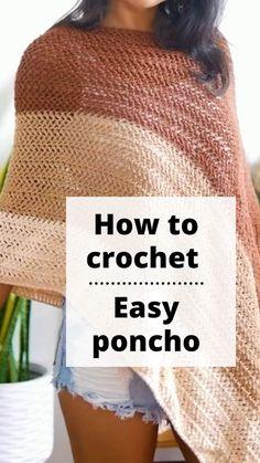 Quick Crochet Patterns, Beginner Crochet Tutorial, Crochet Stitches For Beginners, Beginner Crochet Projects, Crochet Cardigan Pattern, Basic Crochet Stitches, Crochet Designs, Free Crochet, Modern Crochet