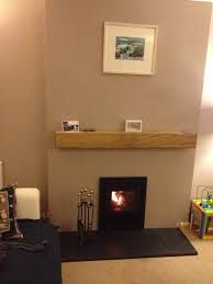 Inset wood burning stove installed with floating oak beam and granite hearth. Chimney lined. Inset Fireplace, Wood Burner Fireplace, Fireplace Design, Inset Log Burners, Inset Stoves, Lounge Design, Corner Stove, White Wood Furniture, Wood Interior Design