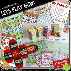 Kate Hadfield - Let's Play Now printables Father's Day Activities, School Information, 35th Birthday, Diy Games, Family Game Night, Lets Play, I Am Game, List, Bingo
