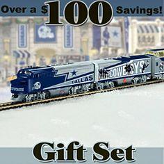 NFL Electric Trains -  NFL Dallas Cowboys Express Train Set