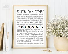 Friends tv show, F.R.I.E.N.D.S, central perk friends, central perk, Friends tv show gifts, friends quotes by AneteBerzinaDesign on Etsy