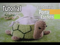 Tutorial bomboniere Cestino Tartaruga Uncinetto (Crochet) 3/6 - YouTube