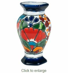 couple of these instead? 3x5.5. $16 Small Octaganal Talavera Vase
