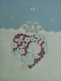 Cute Stitch, Point Lace, Cutwork, My Works, Bed Sheets, Tulips, Cross Stitch, Textiles, Kids Rugs